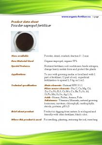 Powder sapropel fertilizer