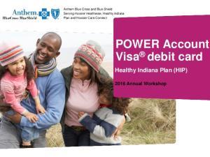POWER Account Visa debit card