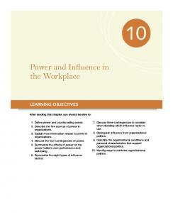 Power and Influence in the Workplace