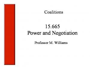 Power and Negotiation