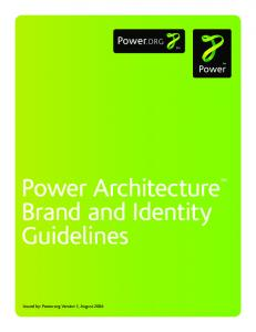 Power Architecture Brand and Identity Guidelines