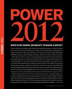 POWER Art+Auction december 2012 blouinartinfo.com