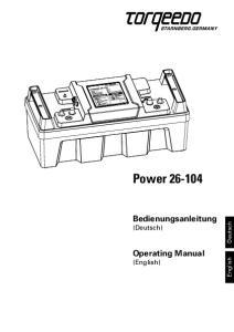 Power Bedienungsanleitung (Deutsch) Operating Manual (English) Deutsch. English