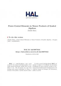 Power-Central Elements in Tensor Products of Symbol Algebras