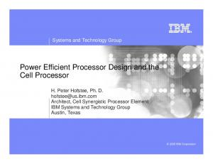 Power Efficient Processor Design and the Cell Processor