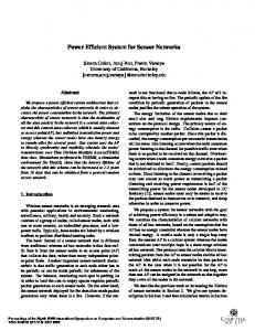 Power Efficient System for Sensor Networks