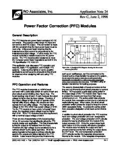 Power Factor Correction (PFC) Modules