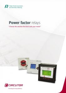 Power factor relays. Choose the solution that best suits your needs. Power factor relay Power Factor Correction and Harmonic Filtering