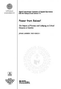 Power from Below? The Impact of Protests and Lobbying on School Closures in Sweden