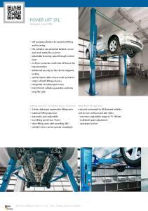 POWER LIFT SPL. Hydraulic 2-post lifts