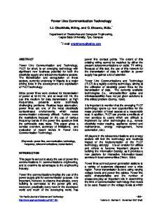 Power Line Communication Technology