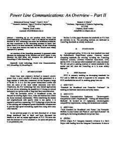 Power Line Communications: An Overview Part II