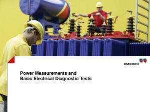 Power Measurements and Basic Electrical Diagnostic Tests