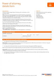 Power of attorney details form