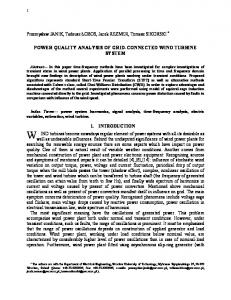 POWER QUALITY ANALYSIS OF GRID-CONNECTED WIND TURBINE SYSTEM