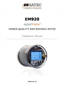 POWER QUALITY AND REVENUE METER