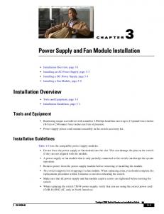 Power Supply and Fan Module Installation