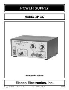 POWER SUPPLY MODEL XP-720