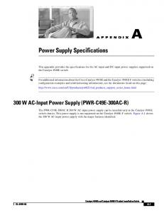 Power Supply Specifications