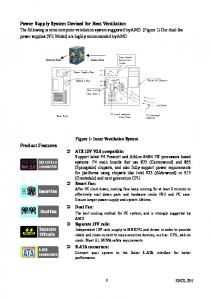 Power Supply System Devised for Best Ventilation. Product Features