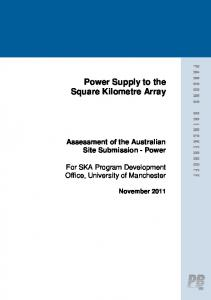 Power Supply to the Square Kilometre Array