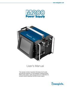 Power Supply. User s Manual