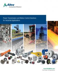 Power Transmission and Motion Control Solutions for Industrial Applications