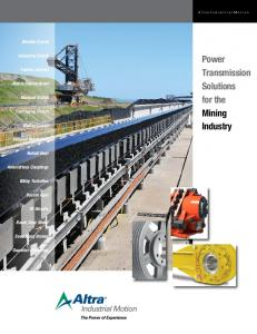 Power Transmission Solutions for the Mining Industry