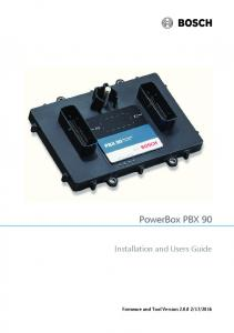 PowerBox PBX 90. Installation and Users Guide