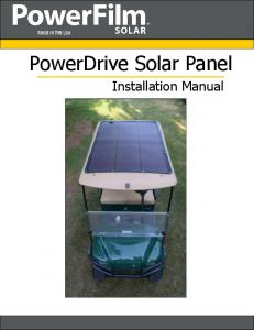 PowerDrive Solar Panel. Installation Manual
