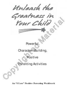 Powerful, Character Building, Positive Parenting Activities