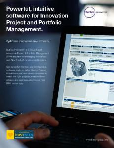 Powerful, intuitive software for Innovation Project and Portfolio Management