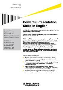 Powerful Presentation Skills in English