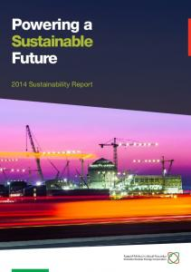 Powering a Sustainable Future Sustainability Report
