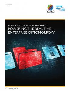 POWERING THE REAL TIME ENTERPRISE OF TOMORROW