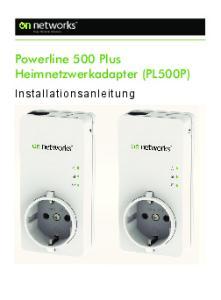 Powerline 500 Plus Heimnetzwerkadapter (PL500P)