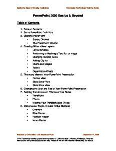 PowerPoint 2003 Basics & Beyond