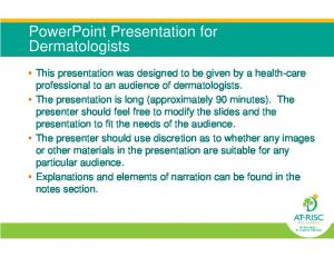 PowerPoint Presentation for Dermatologists