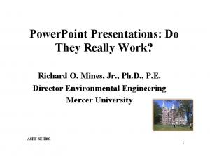 PowerPoint Presentations: Do They Really Work?
