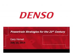 Powertrain Strategies for the 21 st Century