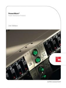 PowerWorx. Power Distribution Products. 3rd Edition