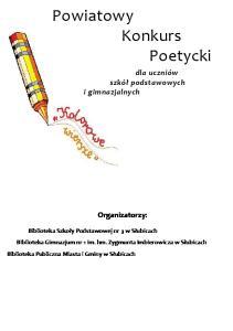 Powiatowy Konkurs Poetycki