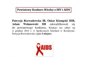 Powiatowy Konkurs Wiedzy o HIV i AIDS