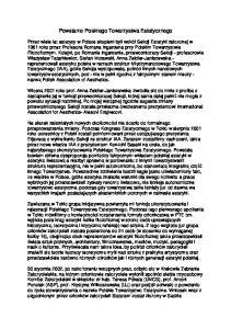 Powstanie Polskiego Towarzystwa Estetycznego