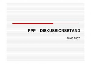 PPP DISKUSSIONSSTAND