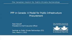 PPP in Canada: A Model for Public Infrastructure Procurement