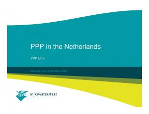 PPP in the Netherlands