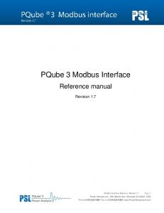 PQube 3 Modbus Interface