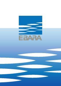 PRA. EBARA PUMPS EUROPE S.p.A. CENTRIFUGAL PUMPS