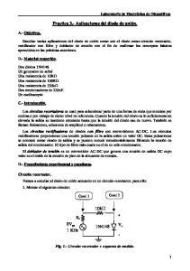 Practica 3.- Aplicaciones del diodo de unión